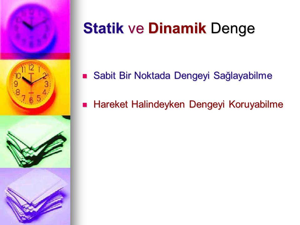 Statik ve Dinamik Denge
