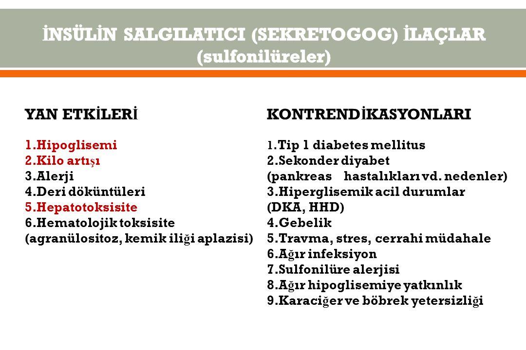 İNSÜLİN SALGILATICI (SEKRETOGOG) İLAÇLAR (sulfonilüreler)