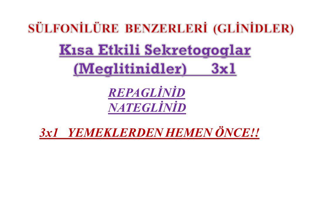 Kısa Etkili Sekretogoglar (Meglitinidler) 3x1