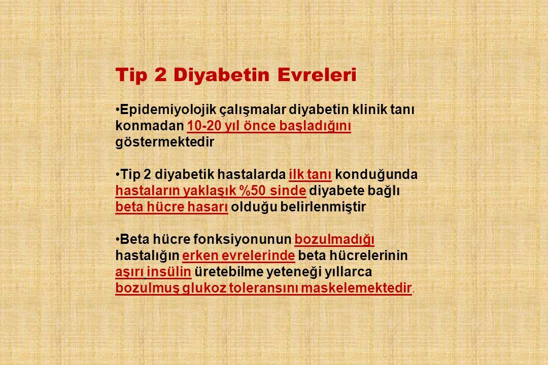 Tip 2 Diyabetin Evreleri
