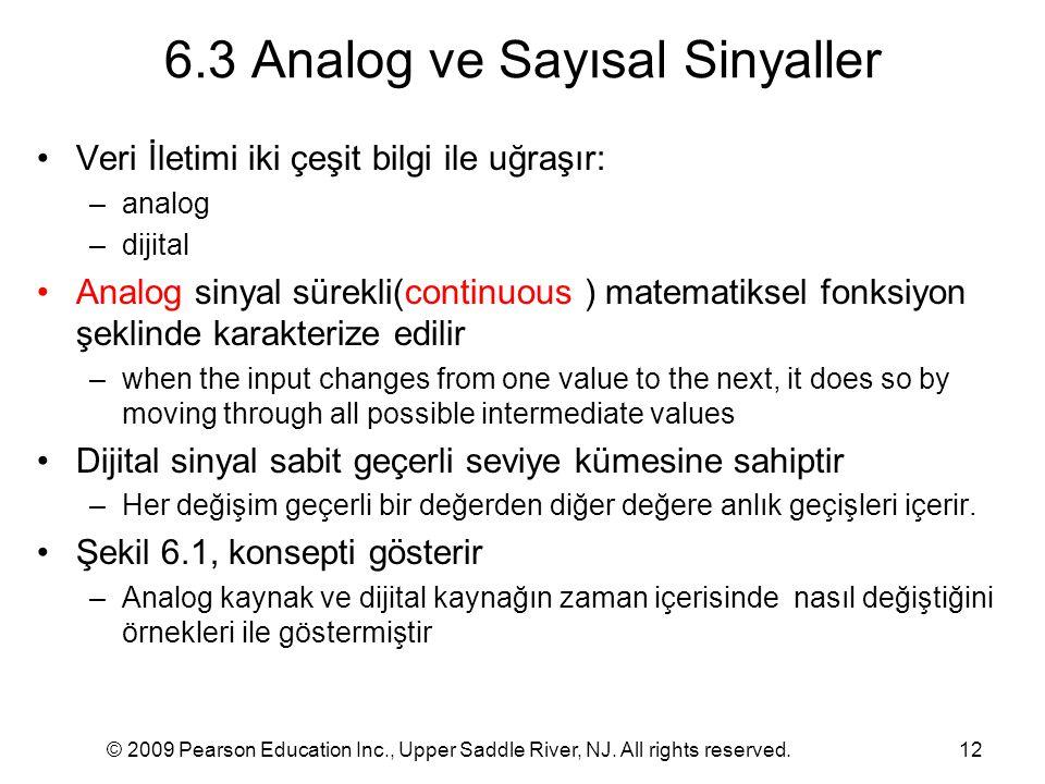 6.3 Analog ve Sayısal Sinyaller