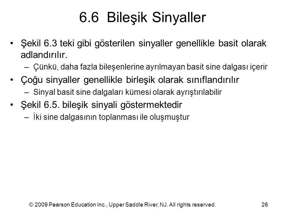 6.6 Bileşik Sinyaller Şekil 6.3 teki gibi gösterilen sinyaller genellikle basit olarak adlandırılır.