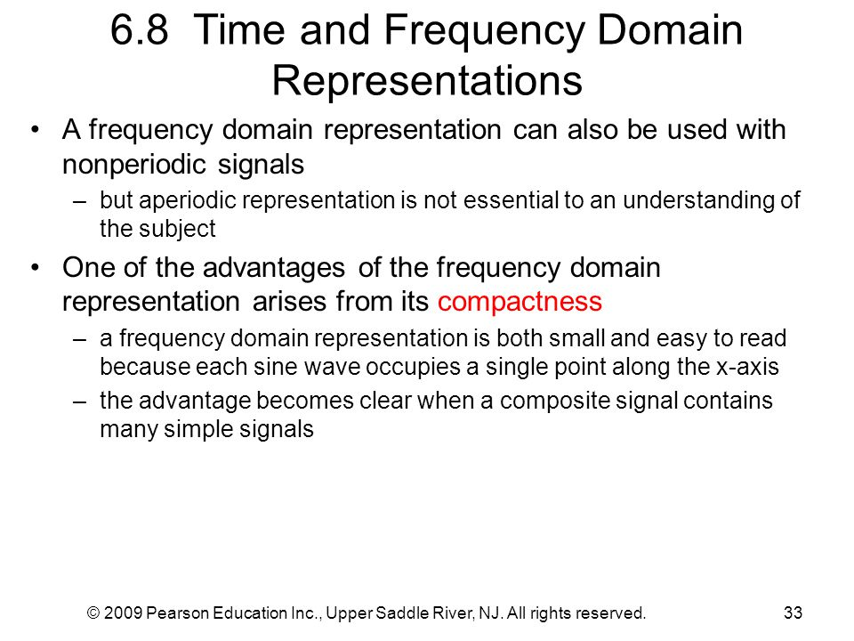 6.8 Time and Frequency Domain Representations