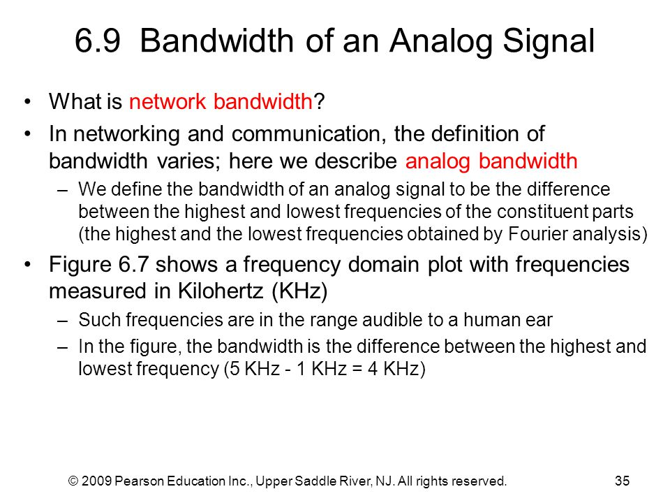 6.9 Bandwidth of an Analog Signal