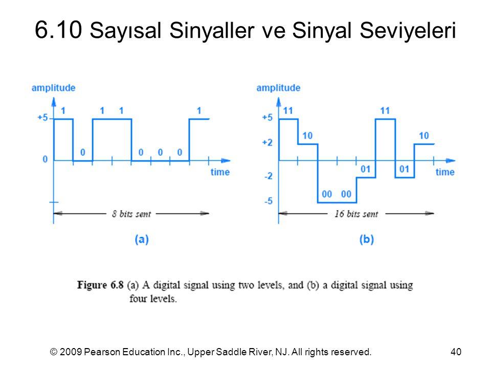 6.10 Sayısal Sinyaller ve Sinyal Seviyeleri