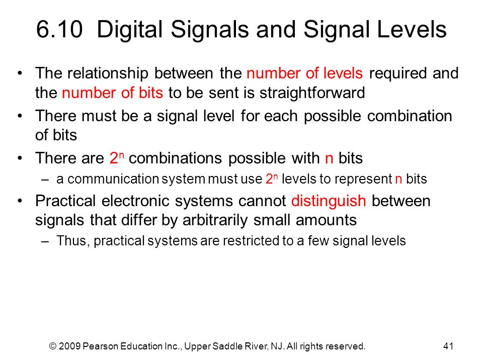 6.10 Digital Signals and Signal Levels