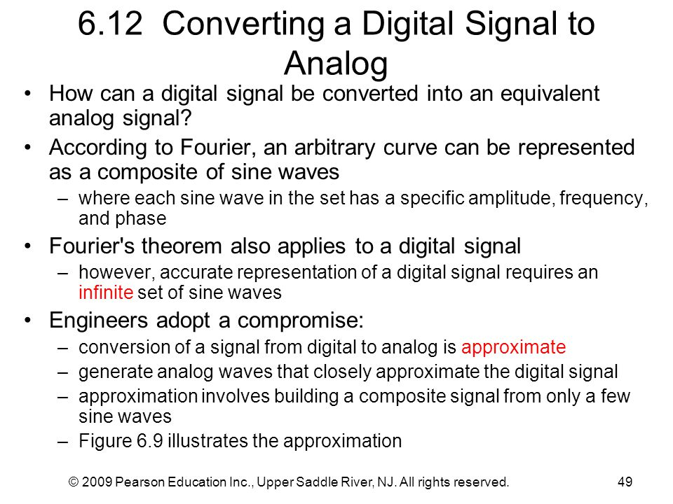 6.12 Converting a Digital Signal to Analog