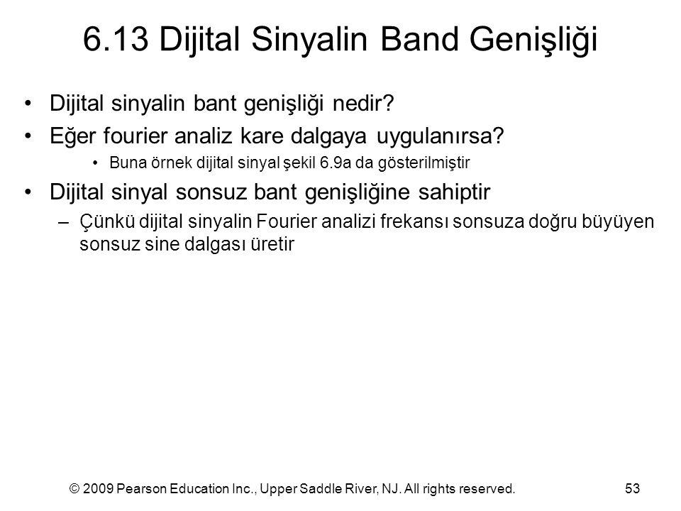 6.13 Dijital Sinyalin Band Genişliği