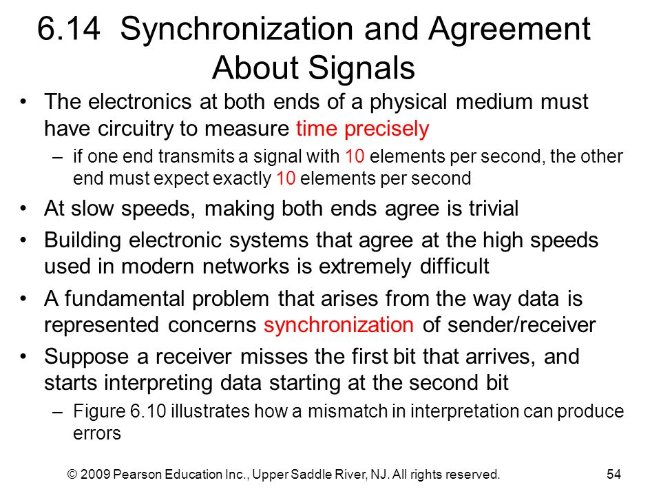 6.14 Synchronization and Agreement About Signals