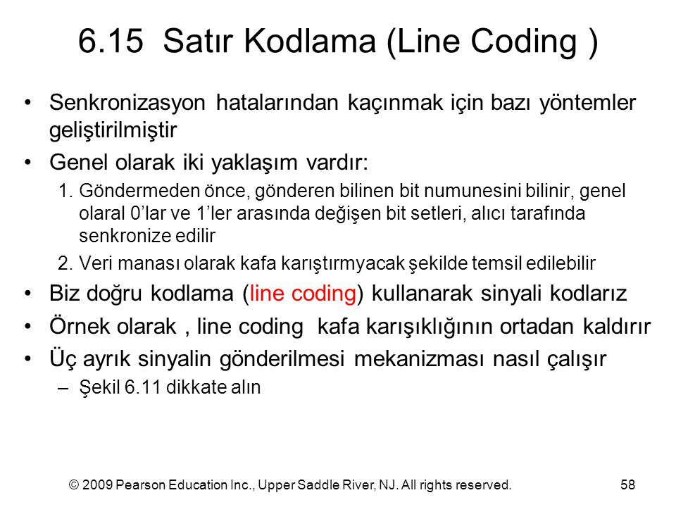 6.15 Satır Kodlama (Line Coding )