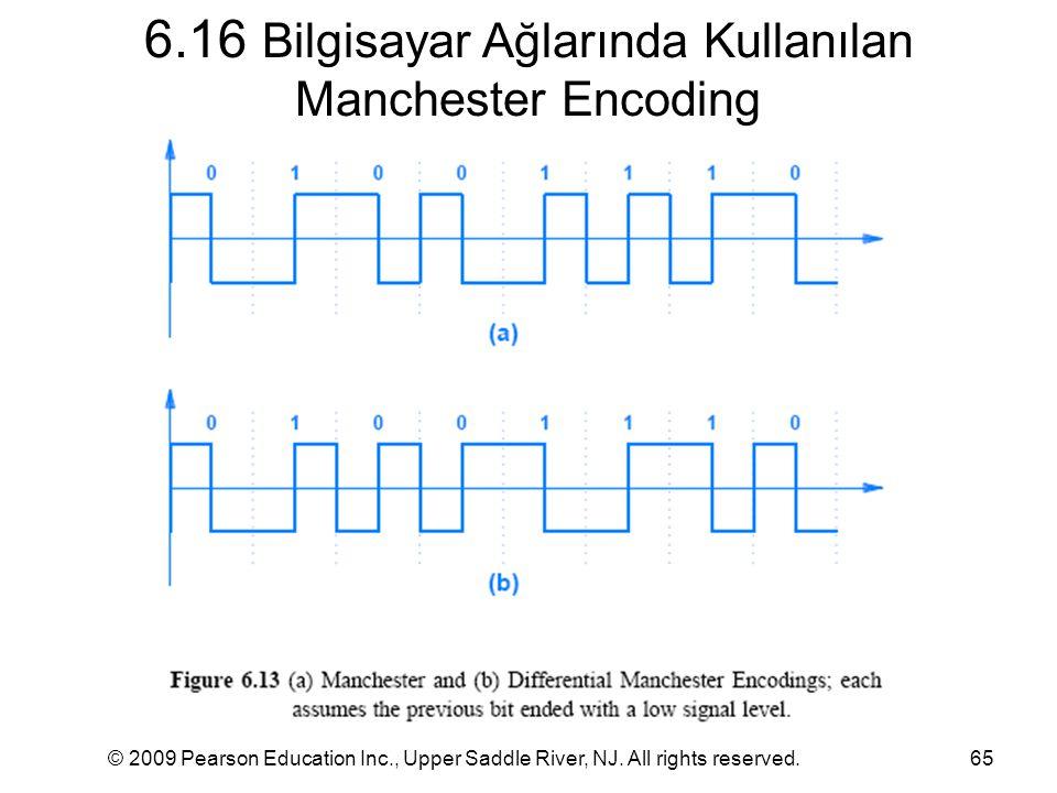 6.16 Bilgisayar Ağlarında Kullanılan Manchester Encoding