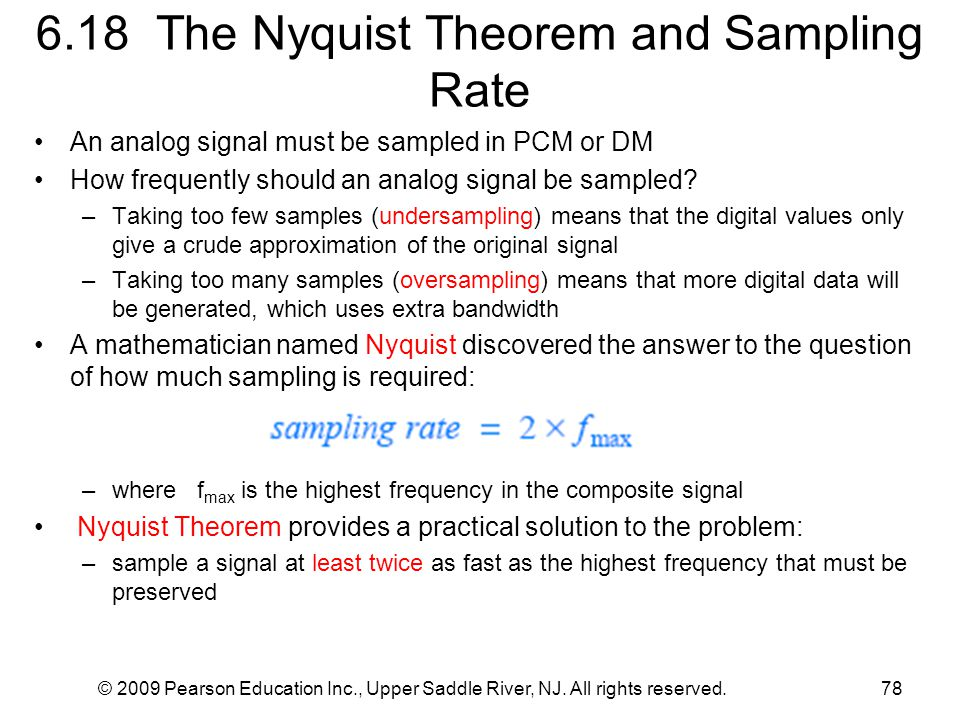 6.18 The Nyquist Theorem and Sampling Rate