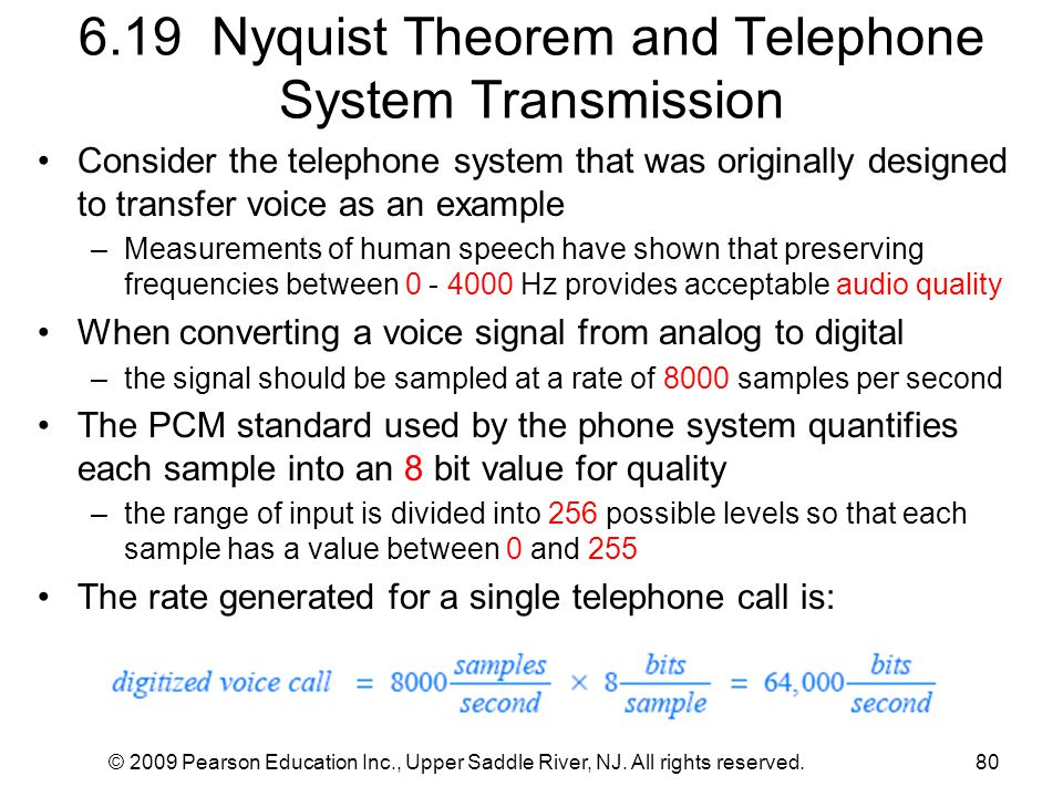 6.19 Nyquist Theorem and Telephone System Transmission