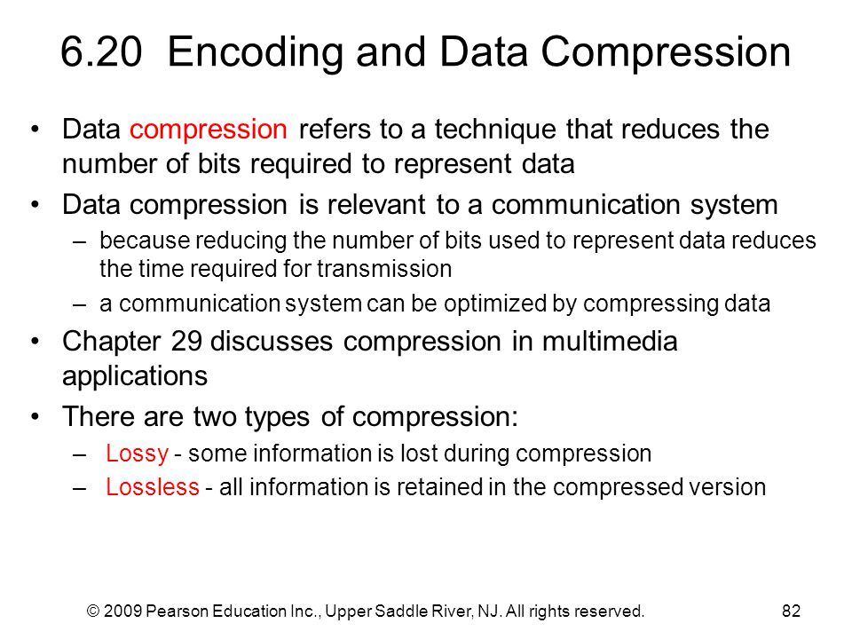 6.20 Encoding and Data Compression