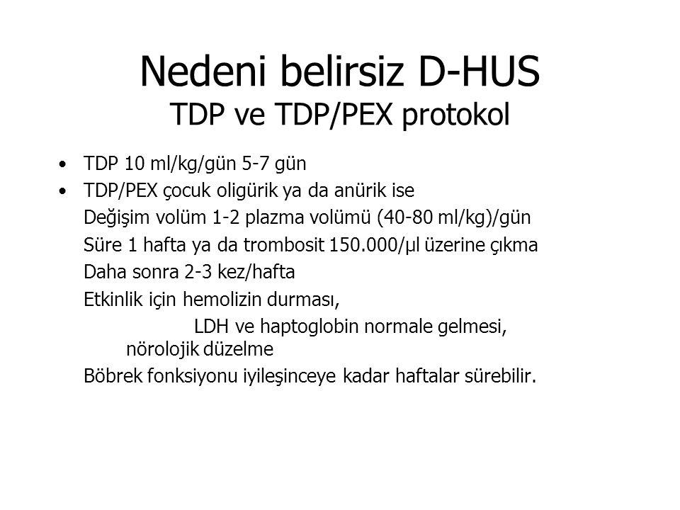 Nedeni belirsiz D-HUS TDP ve TDP/PEX protokol