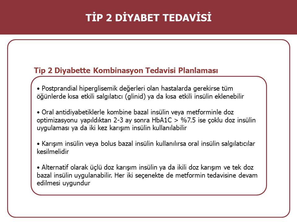 TİP 2 DİYABET TEDAVİSİ Tip 2 Diyabette Kombinasyon Tedavisi Planlaması