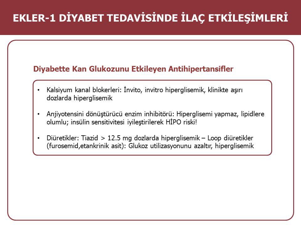 EKLER-1 DİYABET TEDAVİSİNDE İLAÇ ETKİLEŞİMLERİ