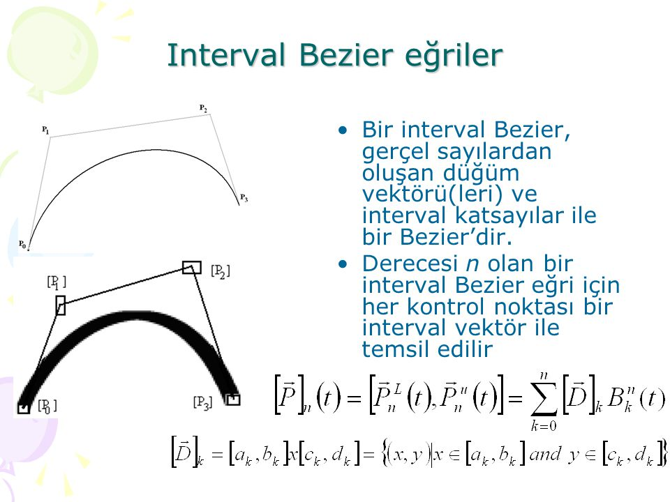 Interval Bezier eğriler