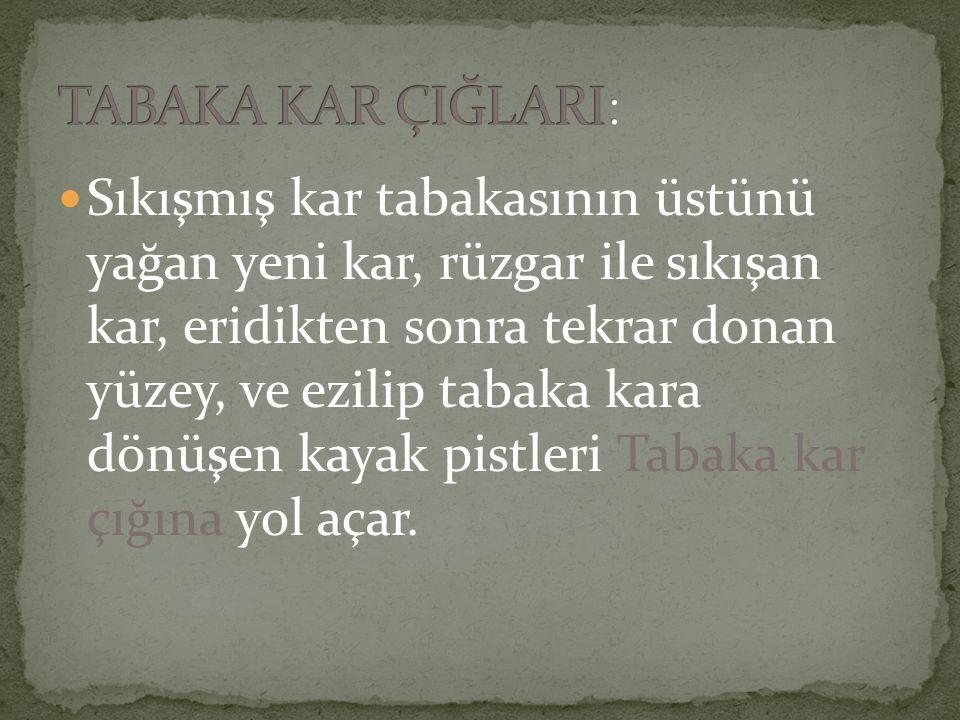 TABAKA KAR ÇIĞLARI: