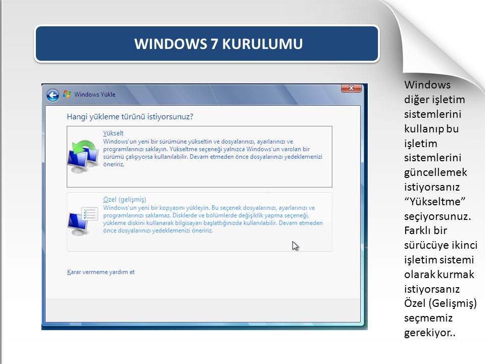WINDOWS 7 KURULUMU