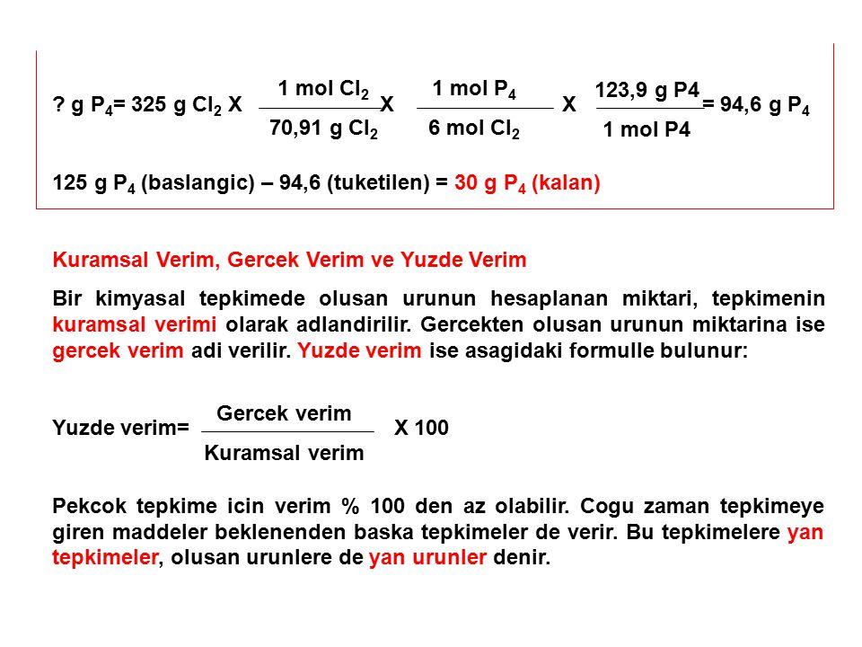 1 mol Cl2 70,91 g Cl2. 1 mol P4. 6 mol Cl2. 123,9 g P4. 1 mol P4.