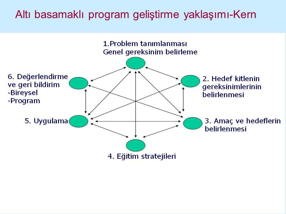 Altı basamaklı program geliştirme yaklaşımı-Kern