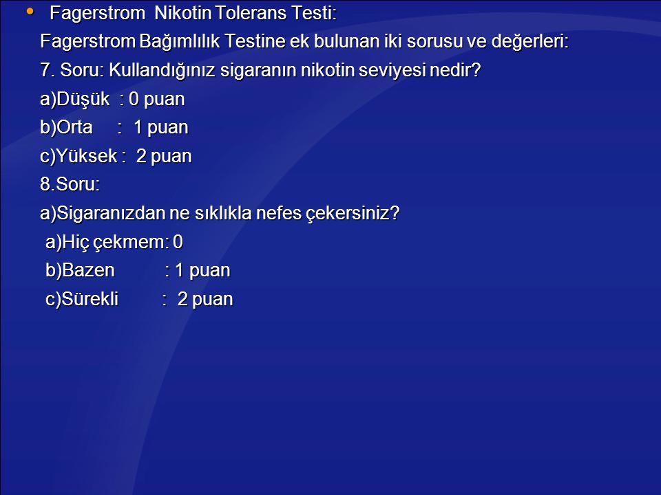 Fagerstrom Nikotin Tolerans Testi: