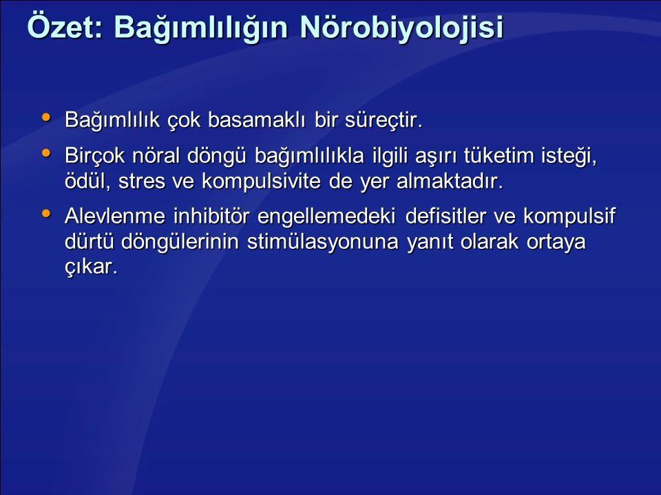 Özet: Bağımlılığın Nörobiyolojisi
