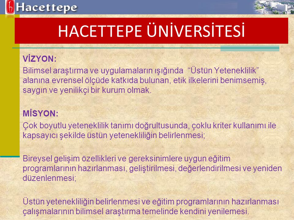 HACETTEPE ÜNİVERSİTESİ