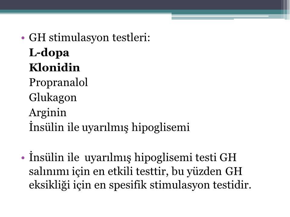 GH stimulasyon testleri: