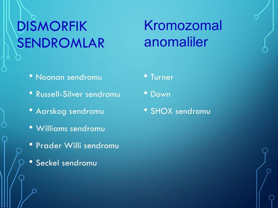 Dismorfik sendromlar Kromozomal anomaliler Noonan sendromu