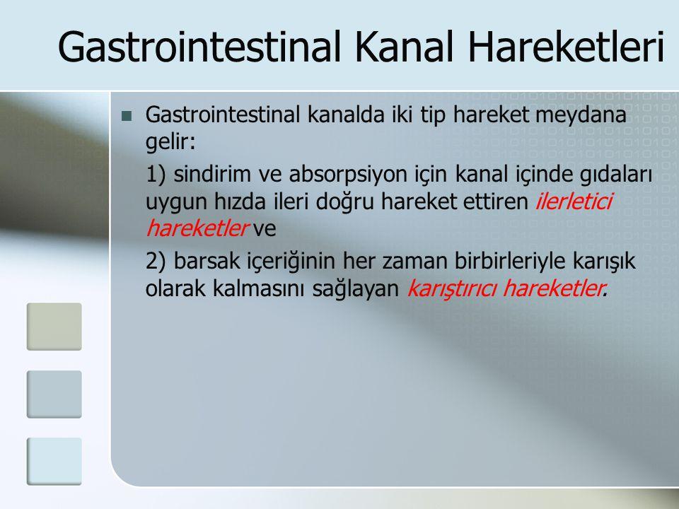 Gastrointestinal Kanal Hareketleri