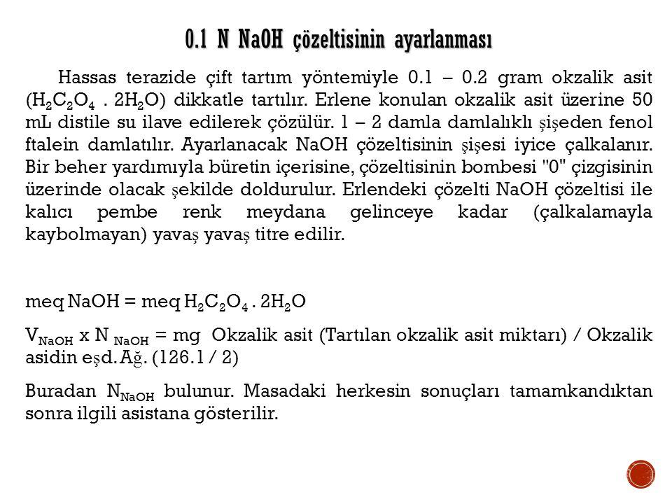 0.1 N NaOH çözeltisinin ayarlanması