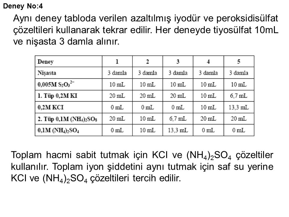 Deney No:4