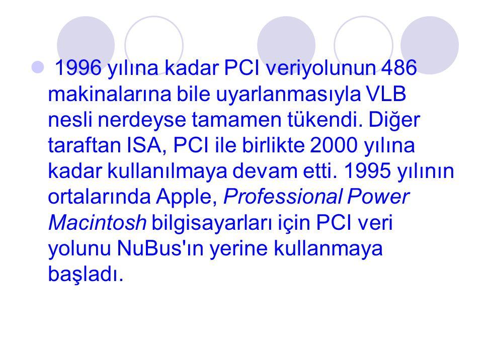 1996 yılına kadar PCI veriyolunun 486 makinalarına bile uyarlanmasıyla VLB nesli nerdeyse tamamen tükendi.