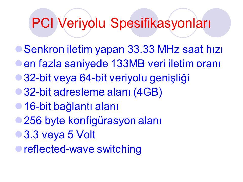 PCI Veriyolu Spesifikasyonları