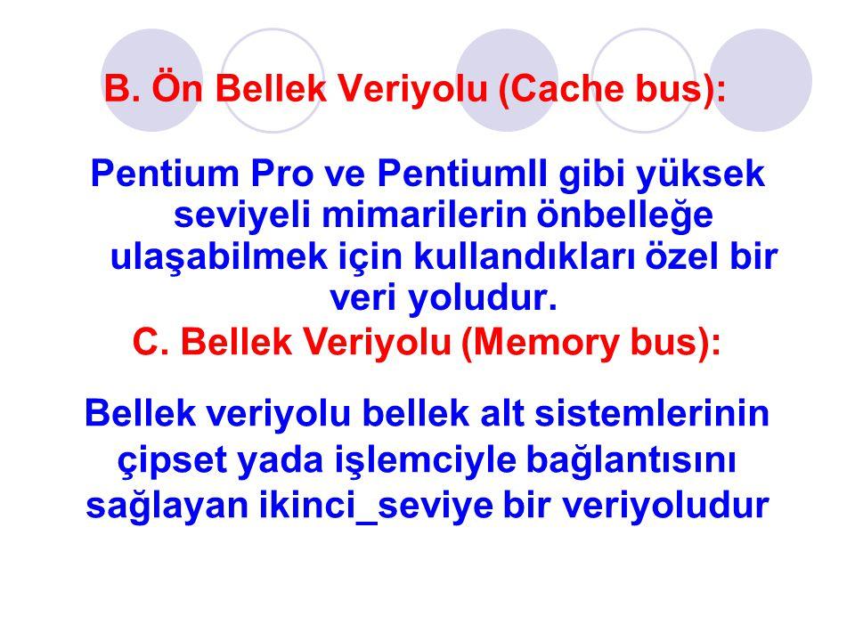 B. Ön Bellek Veriyolu (Cache bus):