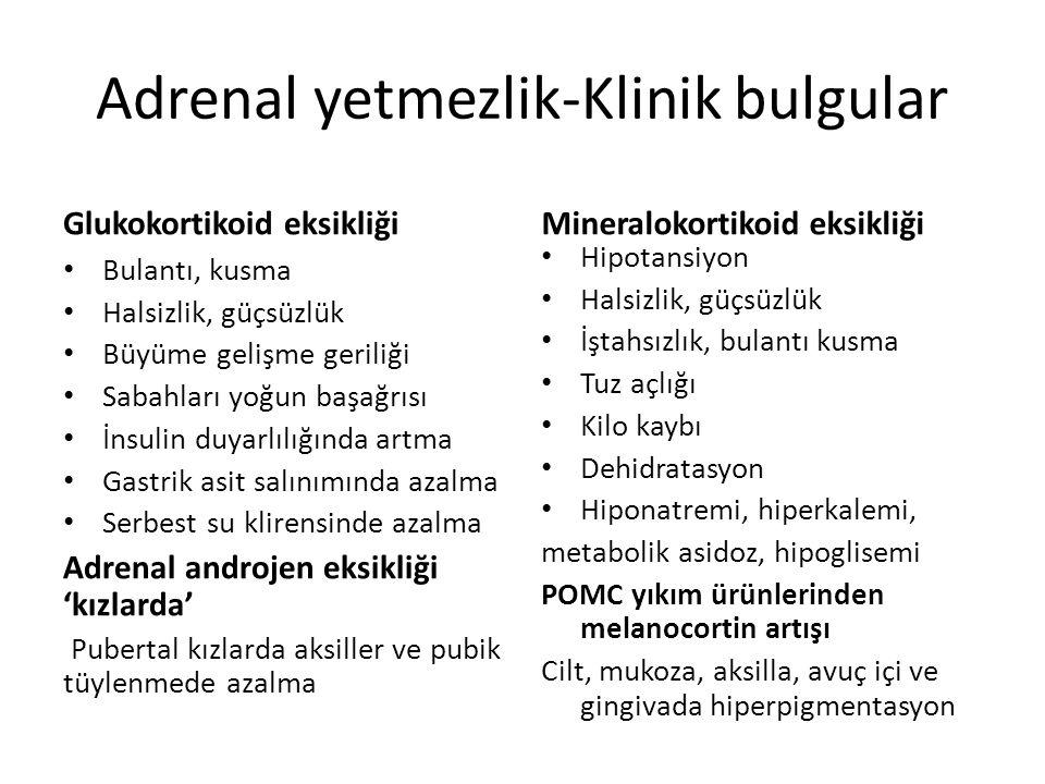 Adrenal yetmezlik-Klinik bulgular