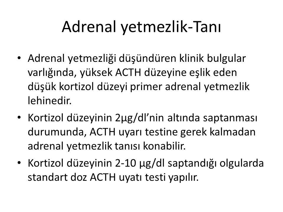 Adrenal yetmezlik-Tanı