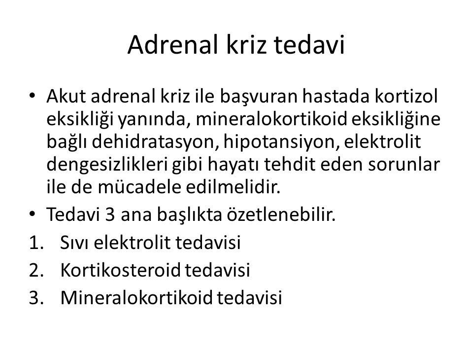 Adrenal kriz tedavi