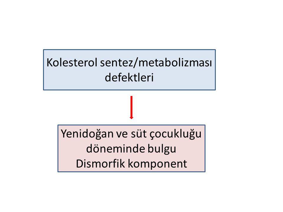 Kolesterol sentez/metabolizması defektleri