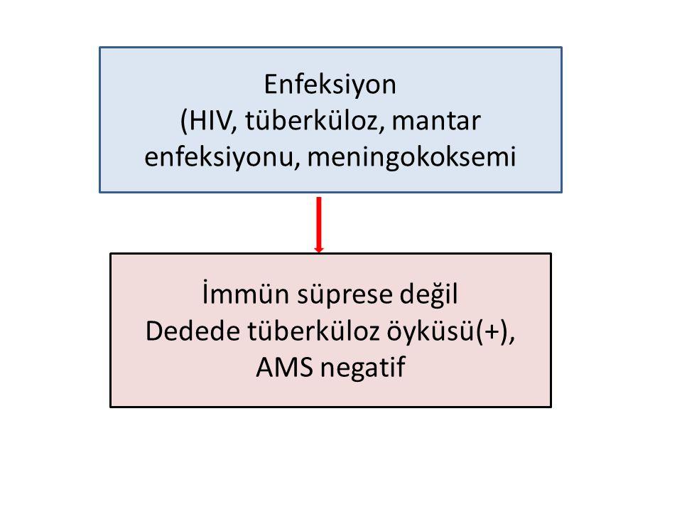 (HIV, tüberküloz, mantar enfeksiyonu, meningokoksemi