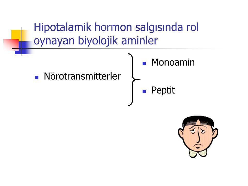 Hipotalamik hormon salgısında rol oynayan biyolojik aminler