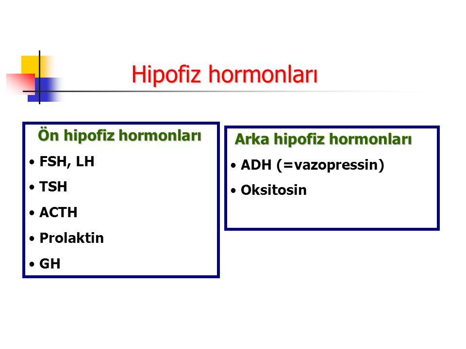Hipofiz hormonları Ön hipofiz hormonları Arka hipofiz hormonları