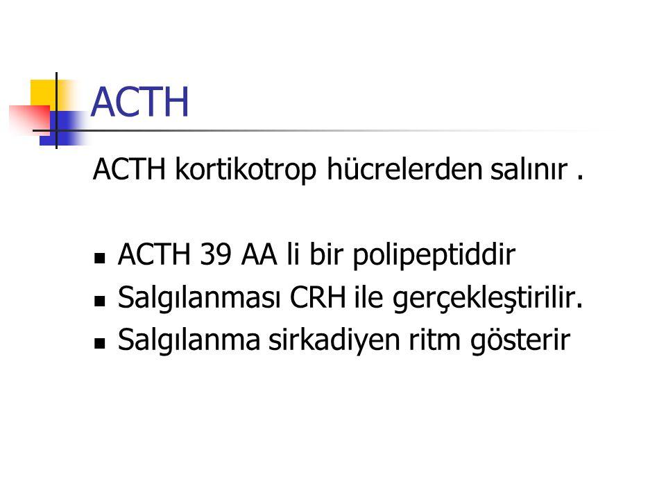 ACTH ACTH kortikotrop hücrelerden salınır .