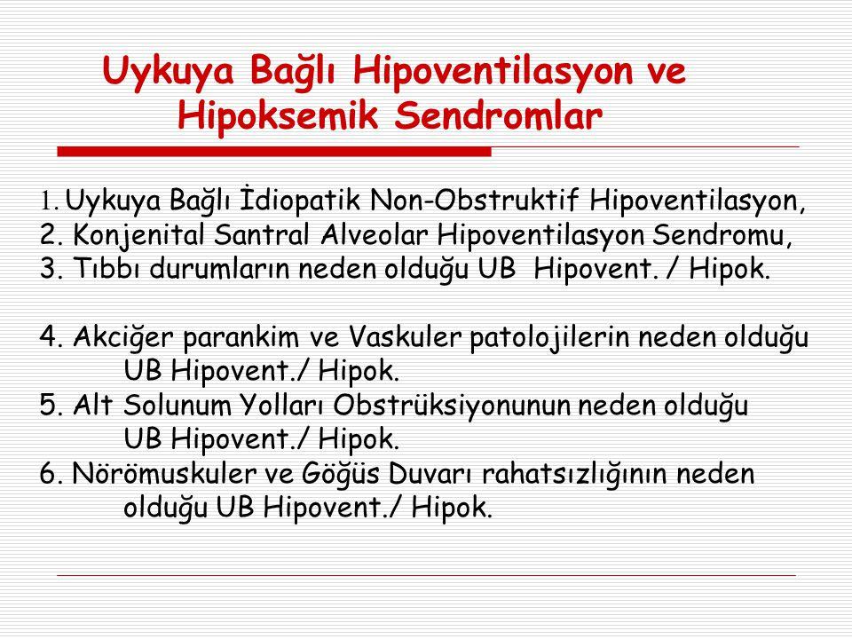 Uykuya Bağlı Hipoventilasyon ve Hipoksemik Sendromlar