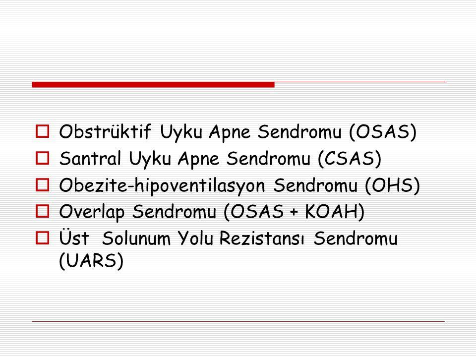 Obstrüktif Uyku Apne Sendromu (OSAS)