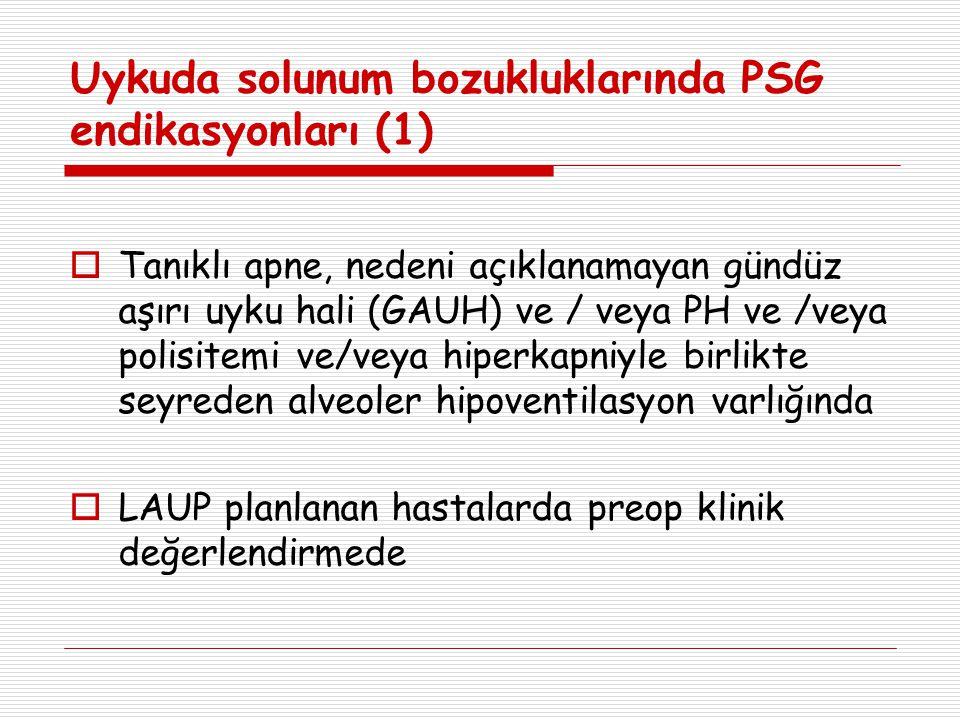 Uykuda solunum bozukluklarında PSG endikasyonları (1)