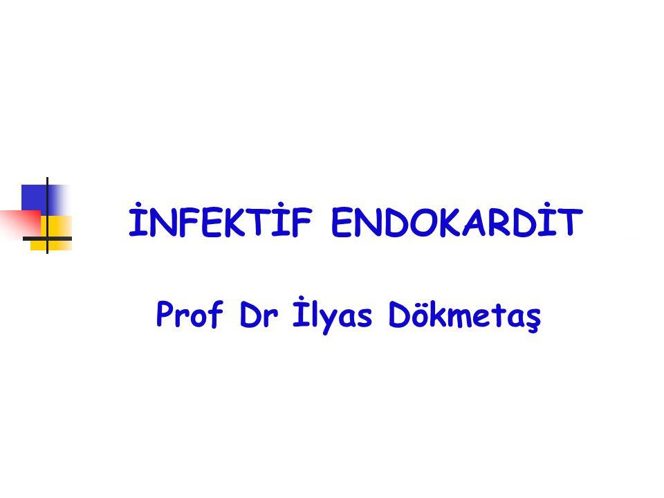 İNFEKTİF ENDOKARDİT Prof Dr İlyas Dökmetaş