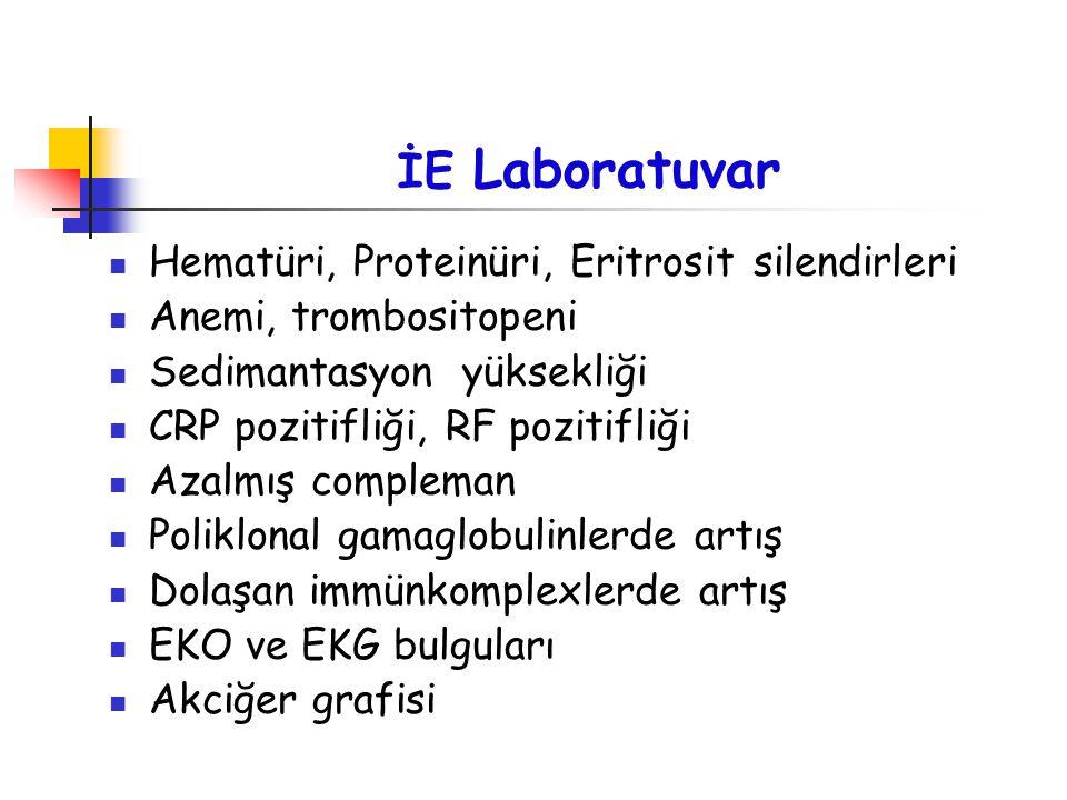 İE Laboratuvar Hematüri, Proteinüri, Eritrosit silendirleri